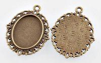 Baza de cabochon bronz 18x13mm int.