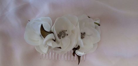 Accesoriu par m3 pieptene handmade flori