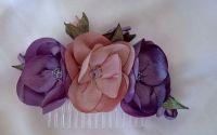 Accesoriu par m4 pieptene handmade flori