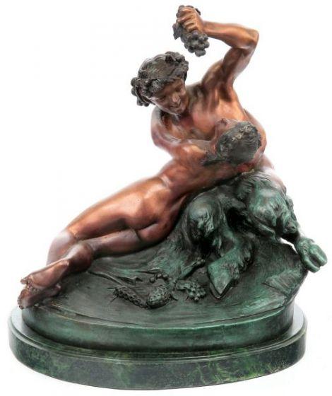 Doi indragostiti  - statueta din bronz
