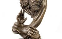 Profet - statueta din bronz pe soclu din marmura
