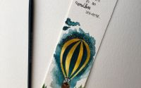 Semn de carte - handmade pictat balon cu aer