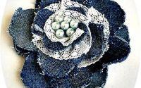 brosa denim  dantela  perle