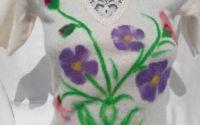 Bluza alba angora