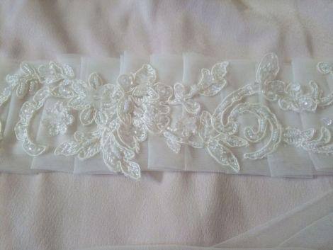 Esarfa mireasa dezgatit ivory model 11