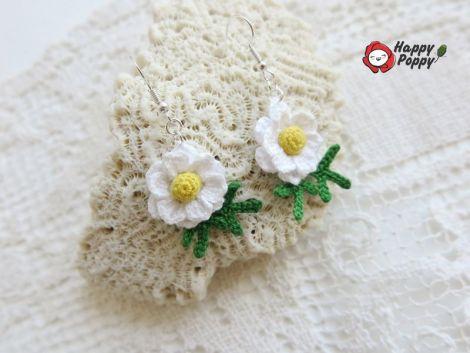 Cercei crosetati - Sweet Daisy