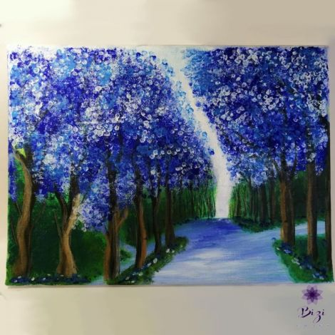 """Tablou """"Peisaj violet"""""""