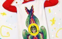 Rochie cu print textil SERAFIM -unicat