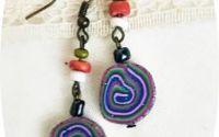 cercei spirale multicolor