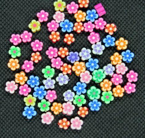 30buc flori polymer clay 6x4 mm