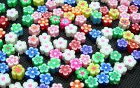 20buc flori polymer clay 8x3-5 mm