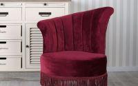 Fotoliu Art Deco din lemn cu tapiterie burgund
