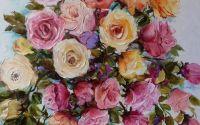 Tablou cu flori original Bissinger