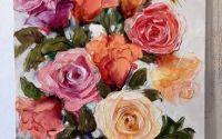 Trandafiri nobili ulei pe panza original Bissing