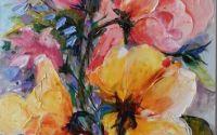 OchioaseTablou cu flori original Bissinger