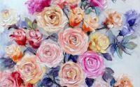 pictura moderna flori trandafiri Bissinger