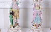 Set doua sfesnice din portelan cu print