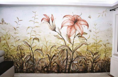 Pictura decorativa murala 3D