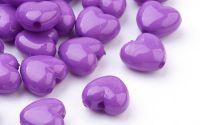 10 buc inima acril purple 10 x 11 x 6 mm