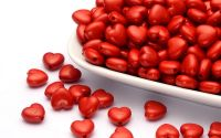 10 buc inima acril red 10 x 11 x 6 mm