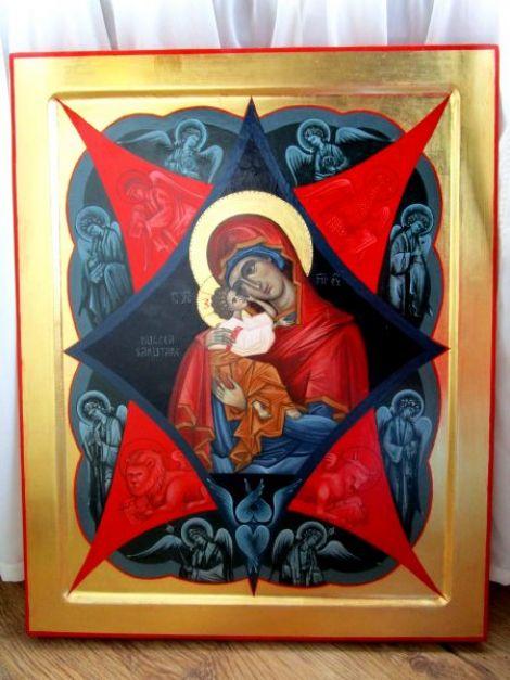 Icoana pe lemn - Maica Domnului cu Pruncul