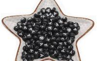 100 buc Margele negre litera A forma disc