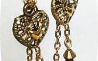 cercei aurii cu cristale negre
