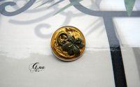 Brosa reciclata cu floare bronz
