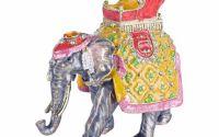 Caseta de bijuterii din metal emailat cu un elefan