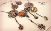 Set de bijuterii colier si cercei Gitan Style