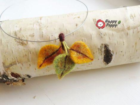 Colier cu frunze de toamna