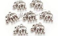 Charm elefant argintiu antichizat