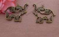Pandantiv elefant bronz 42x49mm