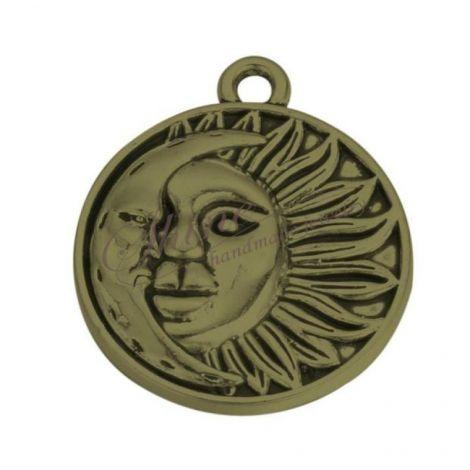 Pandantiv soare si luna bronz 29x25x3mm