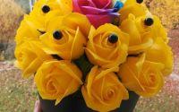 Aranjament cu flori din sapun