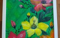 """Tablou pictura acrilica """" Flowerscape"""""""