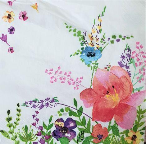 1616 Servetel colt cu flori