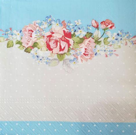 1623 Servetel bordura cu flori 2