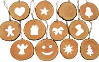 Set decoratiuni de craciun din felii de lemn