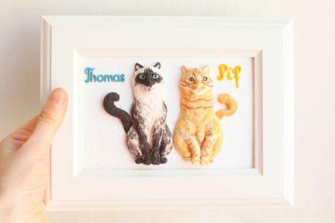 LA COMANDA - Portret personalizat cu 2 animale