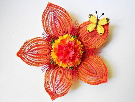 Ornament floare masa festiva