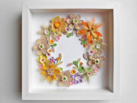 Tablou quilling  flori coronita