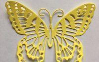 Set de 3 Forme de fluturi - pretaiate - din carton