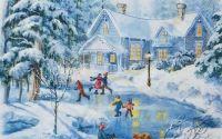 1641 Servetel peisaj de iarna