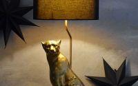 Lampa mare de masa cu un leopard