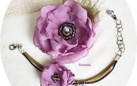 set floral mov lavanda