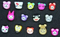 14buc animale polymer clay 10-12 x 7.5-12 x 3-5mm