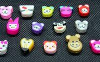 14buc animale polymer clay 10-12 x 7.5-12 x 3-5mm