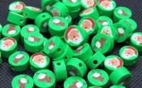 10buc reni  mosi disc polymer clay 10x4-4.5mm