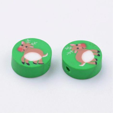 10buc reni disc polymer clay 10x4-4.5mm